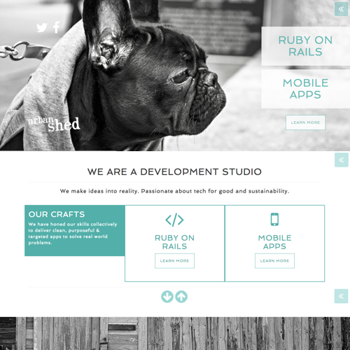 urban shed ruby on on rails studio website